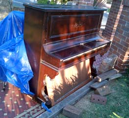 moving and disposing unwanted piano